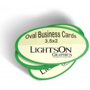 Business Cards - Oval Die Cut